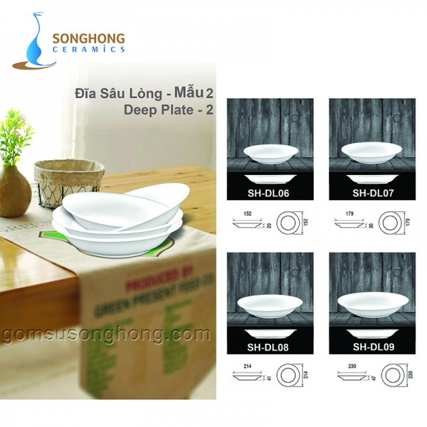 Đĩa Tròn Sâu Minh Châu 15cm - Mẫu 2