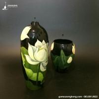 Bộ 2 Bình Hoa Sơn Mài - Mẫu 01