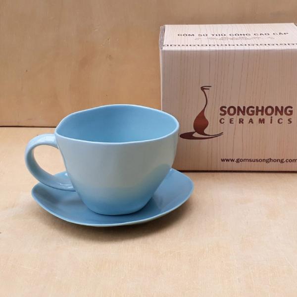 Tách Cafe Đất Màu 300ml - Mẫu 3