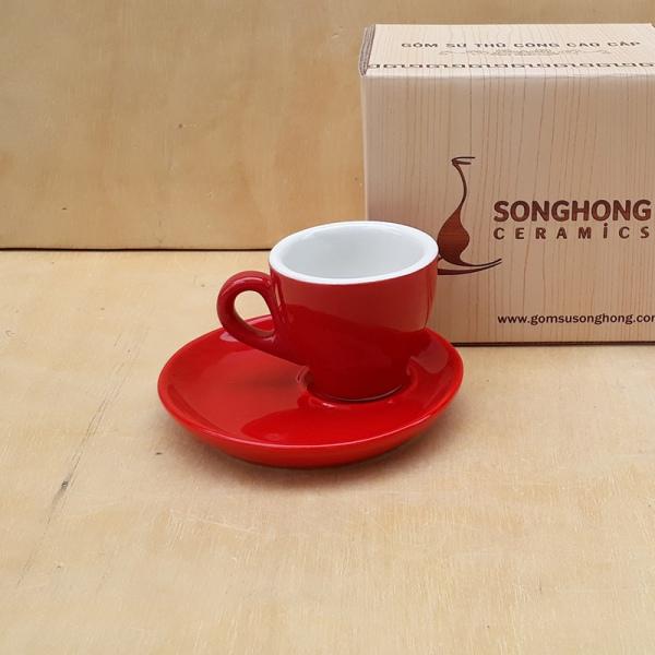 Tách Cafe Men Màu 80ml - Mẫu 1