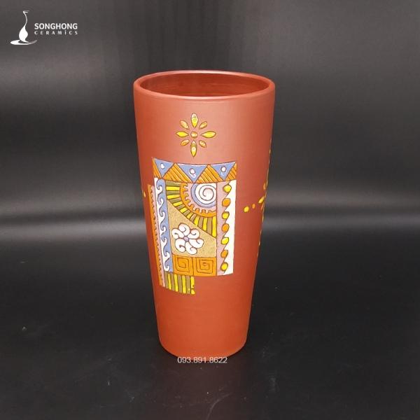 Bình Gốm Đất Đỏ 29cm - Mẫu 7